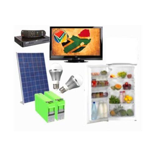 12V TV, Decoder and Fridge kit   Diy home solar kit